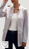 Blazer chaqueta mujer de color gris. SUNNSEAN Mujeres Blazer Chaqueta Mujer Manga Larga Chaqueta Casual Ocasional Ajustada Chaqueta de Manga Larga con cinturón y Chaqueta de Traje de Solapa
