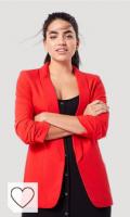 Chaqueta mujer de color roja. PIECES Blazer para Mujer
