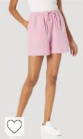 Pantalones verano cortos color rosa pastel. Marca Amazon - Lily - Pantalones Cortos de Cintura Elástica - shorts Mujer por The Drop