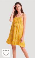 Vestido mujer de color amarillo. Superdry Daisy Beach Dress Vestido para Mujer