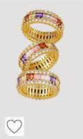 Anillo de boda para mujer, diseño de arcoíris