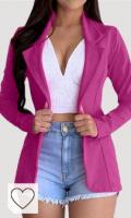 Chaqueta blazer mujer de color rosa. Luckycat Blazer Mujer Talla Grande Elegante OL Casual OtoñO Slim Fit Oficina Negocios Abrigo Mujeres Blazers Chaqueta de Traje Slim Fit Elegante Oficina Negocios Outwear