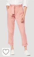 Pantalón mujer de color rosa corazón. Marca Amazon - find. Pantalón con Cintura de Fuelle Mujer