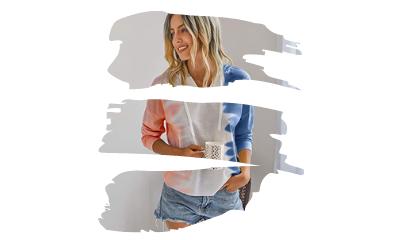 Sudaderas Tie Dye Mujer en Colores del Arcoíris y Amazon Fashion