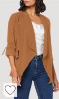 Chaqueta blazer mujer de color marrón coconut toasted. Only Blazer para Mujer