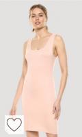 Vestido rosa pastel para mujer primavera verano. Marca Amazon - Sonia Minivestido ajustado sin mangas y con escote redondo por The Drop