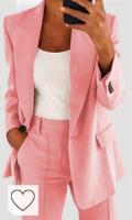 Blazer de color rosa pastel. Minetom Mujer Manga Larga Blazer Elegante Oficina Negocios Parte OL Traje De Chaqueta Sólido Slim Fit Abrigo Cardigan Outwear Top