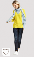 Jersey Mujer de color amarillo. Cecil Jersey con estructura en Lemon Drop