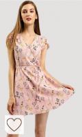 Vestido flores rosa pastel para primavera verano 2021. Allegra K Vestido Floral con Cinturón para Mujer Cuello En V Mangas De Pétalos