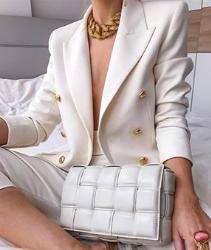 Chaqueta blazer mujer de color blanco. Chaqueta Blazer para Mujer Traje de Manga Larga Cuello de Solapa con Botones Casual Elegante para Trabajo Oficina Negocio OL