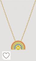 Swarovski Collar Sparkling Dance Rainbow, Colores claros, baño Tono Oro
