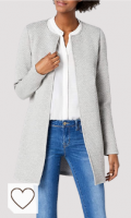 Chaqueta mujer de color gris. Vila Vinaja New Long Jacket-Noos Chaqueta de Traje para Mujer