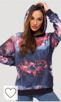 Sudadera Tie dye mujer para primavera 2021. G4Free Mujeres Sudadera con Capucha Tie Dye para Mujer Casual Camisas de Manga Larga Tops con Bolsillos para Fitness