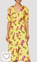 Vestido de color amarillo. Marca Amazon - find. Vestido Midi Boho Mujer